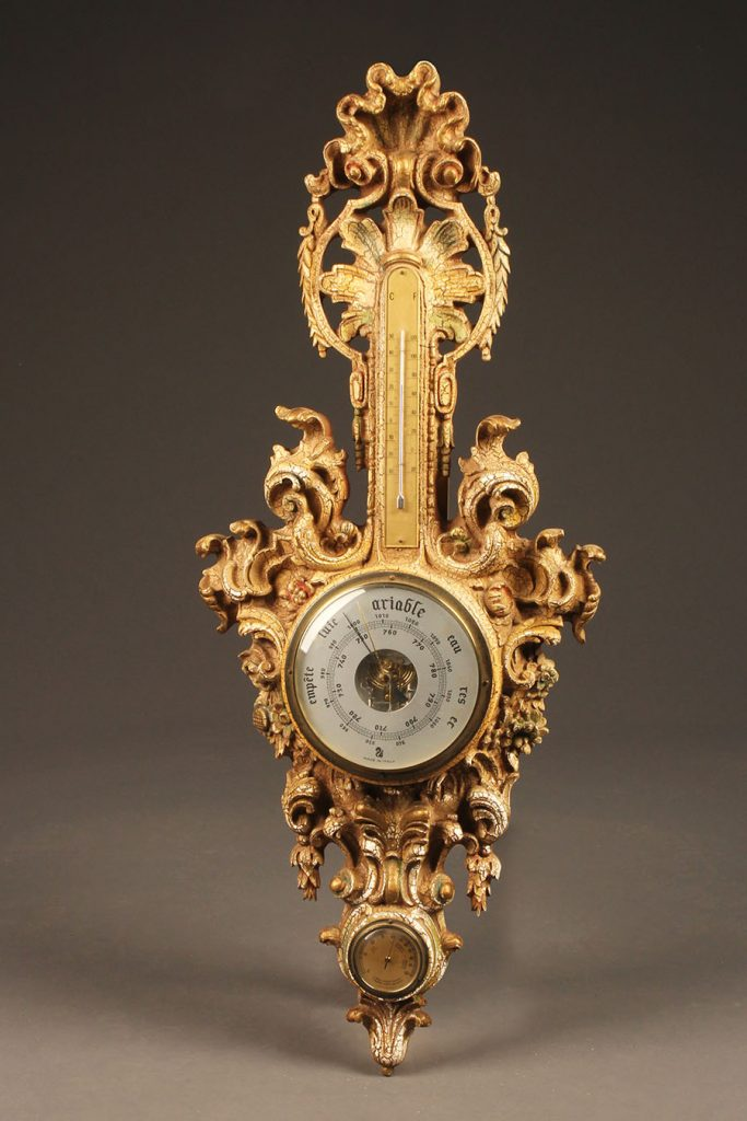 A5609A-french-barometer-rococco