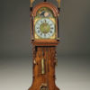 Mid 19th century Dutch Staartklok in oak with hand painted dial