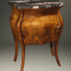 A5649B-antique-commode-stand-bombe-italian burl-marble