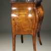 A5649C-antique-commode-stand-bombe-italian burl-marble