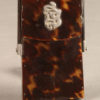 Very nice tortoise shell cigarette holder with detailed silver monogram, circa 1920's.