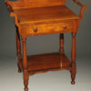 Beautiful cherry American Victorian era wash stand with drawer and towel bars, circa 1870.