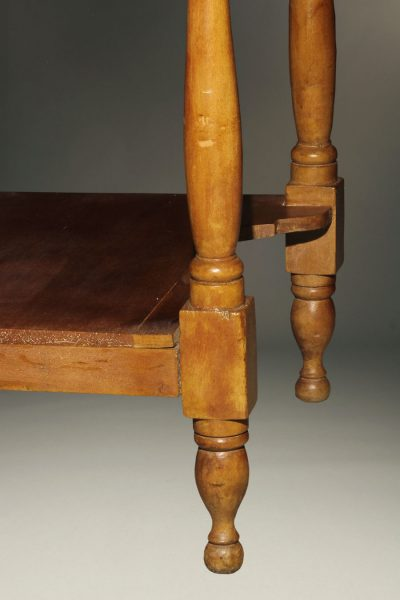 Mid 19th century American cherry stand table with drawer and dovetail construction, circa 1860-70.