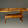 "Late 19th century pine hutch table that ""flips"" into a bench, circa 1890."