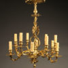 late 19th century French cast bronze chandelier with 12 arms, circa 1890.