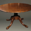 "18th century styled custom oak pedestal table with a 54"" diameter top."