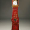 Mid 19th century French Comtoise tall case clock with an 8 day movement and chinoiserie accented finish, circa 1860.