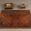 Very nice late 19th century hand tooled leather desk set, circa 1890.