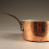 Late 19th century French copper chef's pot with iron handle and signed Paris, circa 1890.