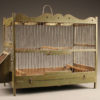 Late 19th century French finch cage with original paint, circa 1890