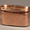 Late 18th century French hand wrought copper daubiere with lid and iron handles, circa 1780.