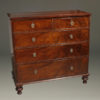 Mid 19th century English chest of drawers in mahogany