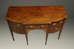 Late 18th century Federal style English sideboard in mahogany