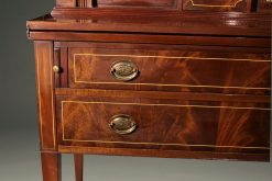 Mahogany Colonial Revival styled ladies writing desk with tambour doors