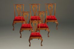 Nice set of 6 mahogany Chippendale style side chairs with ball and claw feet
