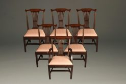 Nice set of mahogany Chippendale style chair with 5 side chairs and one arm chair