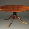 """Custom made 18th century English styled farmhouse table in cherry wood with two 18"""" leaves."""