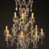 Late 19th century iron and crystal Italian chandelier with 12 arms