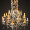 Late 19th century Italian iron and crystal chandelier with 24 lights