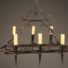 Late 19th century rectangular French 8 arm iron chandelier,