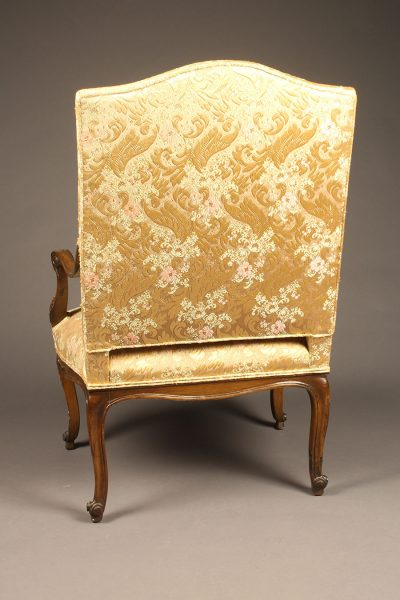 19th century French Louis XV styled armchair with very nicely hand carved walnut