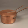 Huge 19th century copper chef's pot with lid