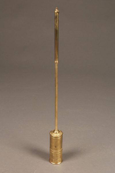Adjustable brass English fireplace brush