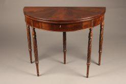 Mid 19th century mahogany, English flip top games table