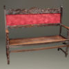 Late 19th century Italian entry hall bench with arms