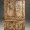 19th century Tuscan cupboard with original polychrome finish