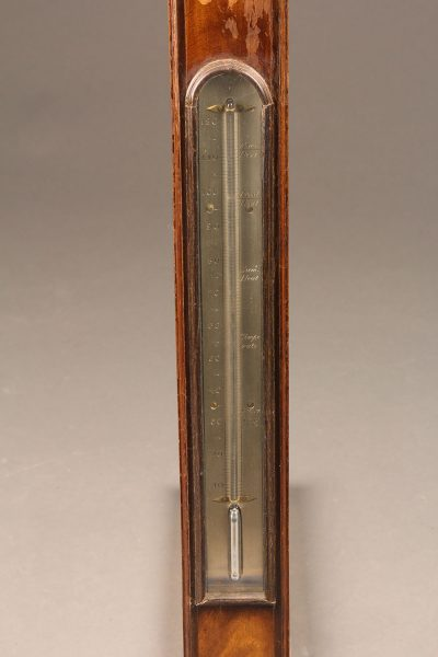 "Mid 19th century English barometer/thermometer in mahogany signed ""Bithray, Royal Exchange, London"""