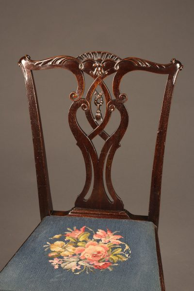 19th century English Chippendale style side chair with ball and claw feet