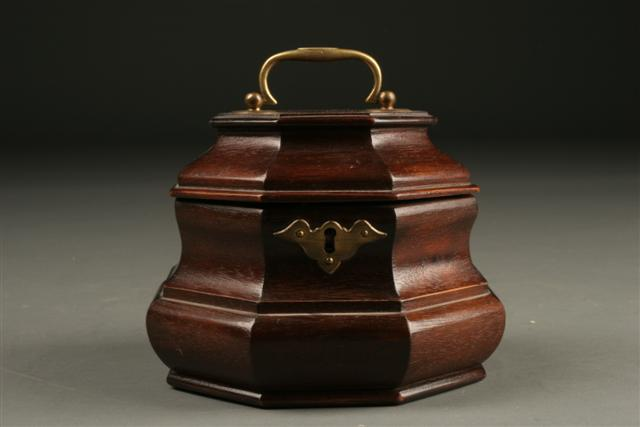 English Style Tea Caddy In Mahogany From Colonial Williamsburg