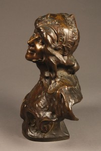 Bronze bust of gypsy woman by Benthous A1165E