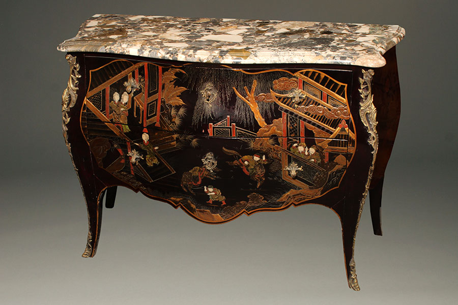 A1582A Commode Chest Chinoiserie 19th Century