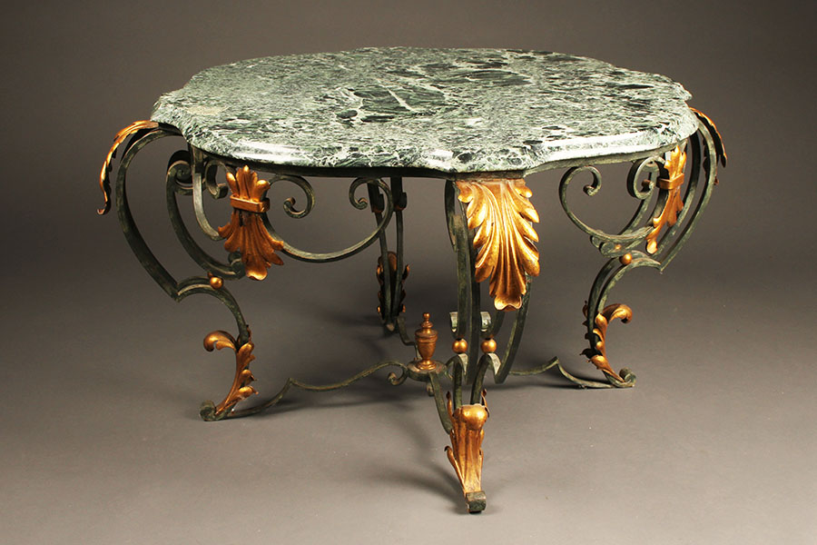 A1671a Polychrome Italian Tea Coffee Table Marble1