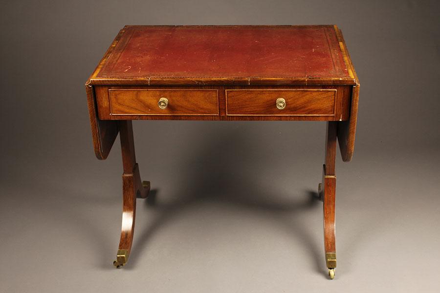 Antique English Rosewood Sofa Table.