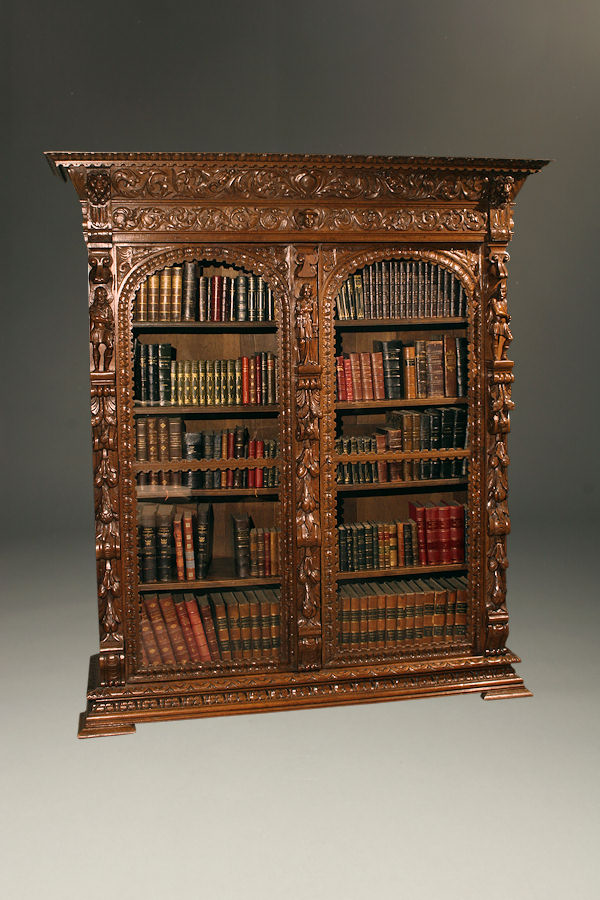 19th Century French Baroque Style Bookcase