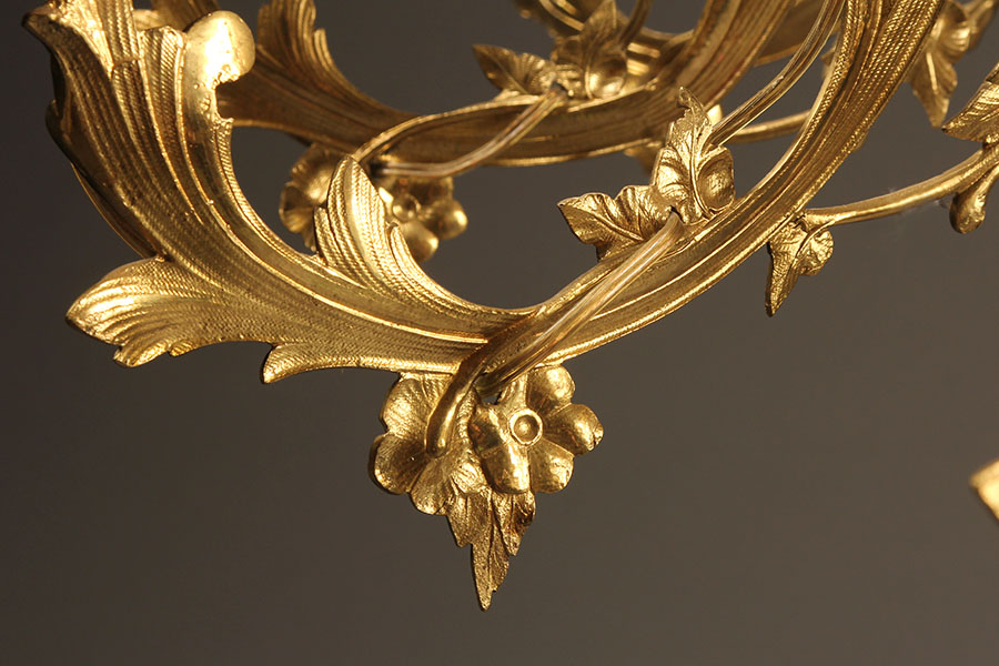 18 arm French antique bronze chandelier A2084I - 18 Arm French Antique Bronze Chandelier.