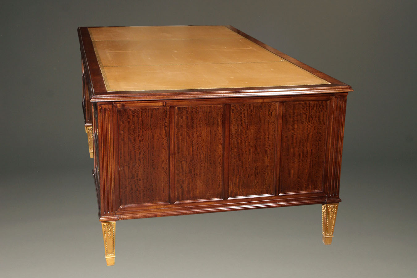 French Satinwood And Prima Vera Gany Napoleon Iii Partners Desk A2251c