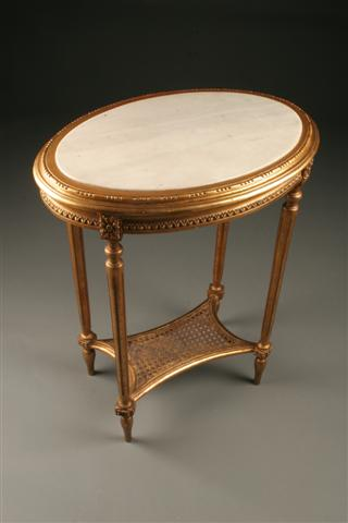 Great Home/Furniture/Other Tables. Antique French Gilt Louis XVI Oval Side ...