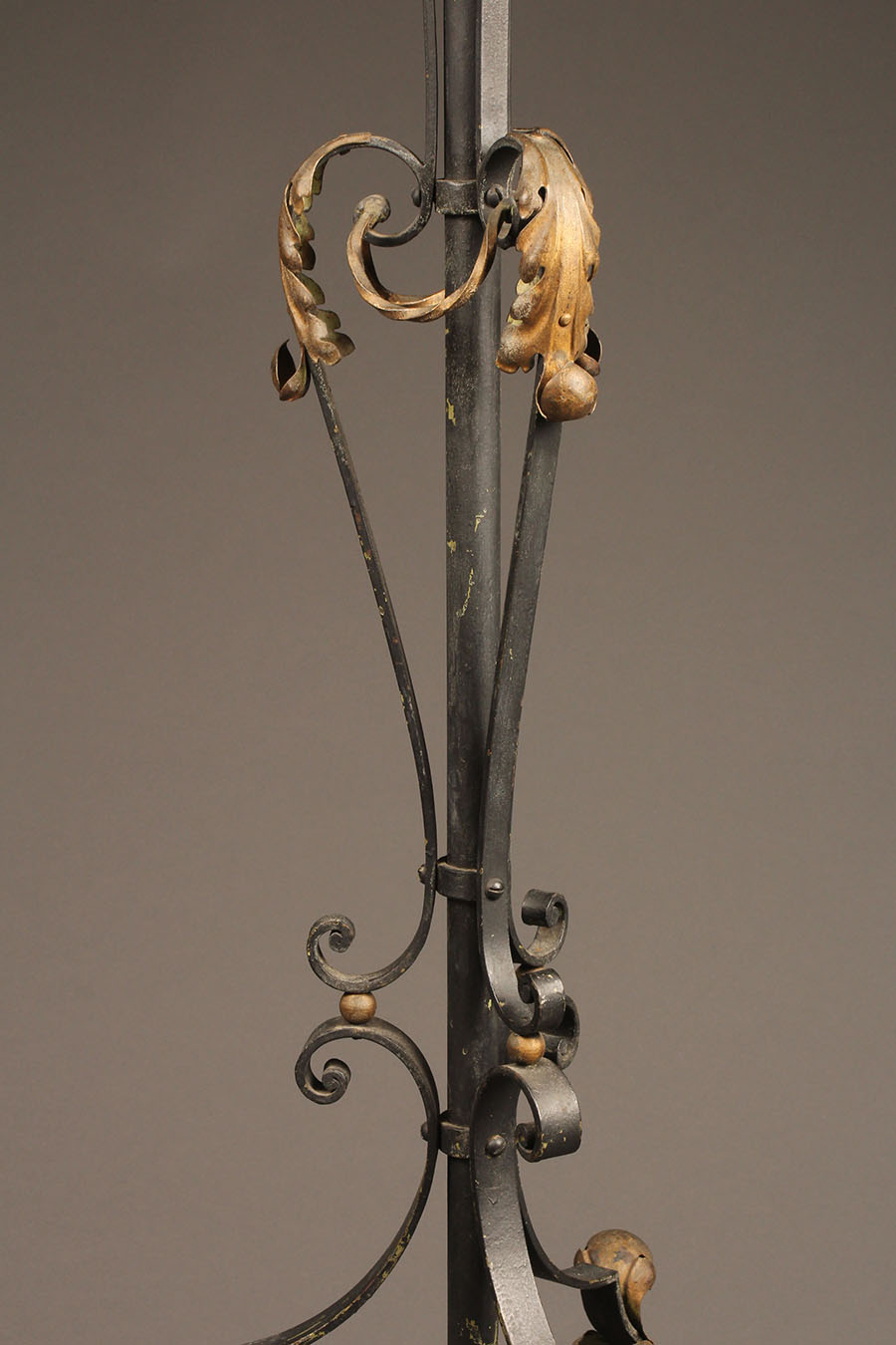Scroll And Leaf Iron Floor Lamp French