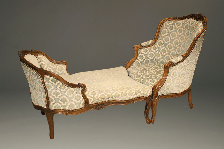 Late 19th century french louis xv style chaise lounge for 19th century chaise lounge