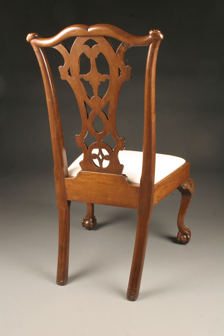 Late 19th Century Set Of Six Antique Chippendale Style Side Chairs With Ball And Claw Feet