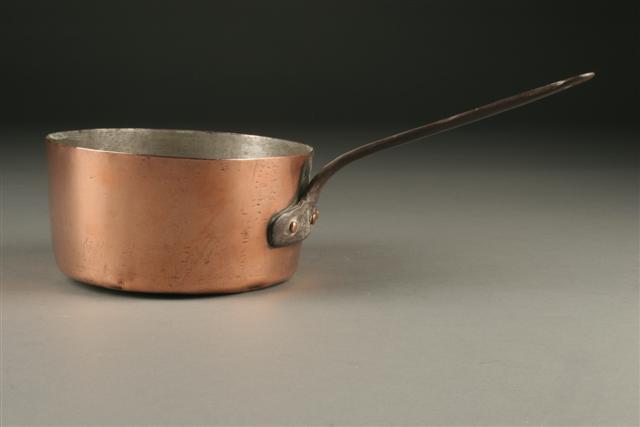 18th Century hand wrought copper pot