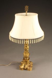 Wonderful French Louis XV style bronze lamp with foliage motif, circa 1920's.