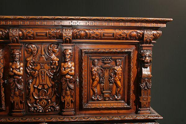 Belgian Hand Carved Cabinet