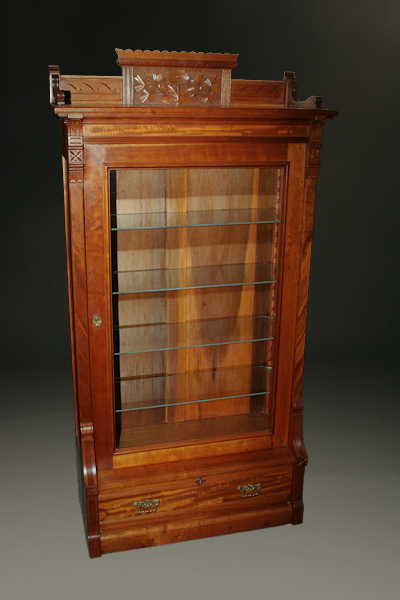 Home Sold 19th Century Eastlake Victorian Display Bookcase