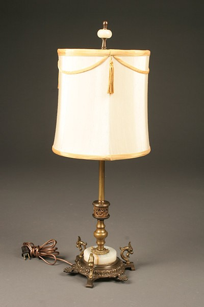 Rembrandt Table Lamp R7181 Bronze Over Iron With Onyx Base