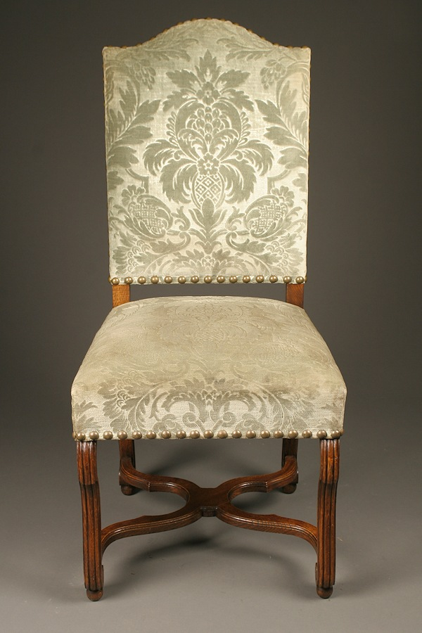Set Of Antique French Louis Xiii Style Dining Chairs In